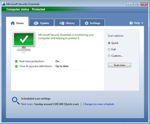 Microsoft Security Essentials latest update