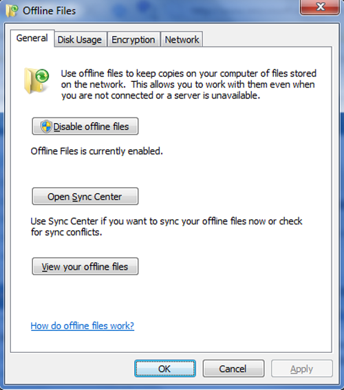 How To Use Offline Files In Windows 7