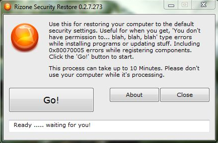 Fix For 0×80070005 Error – Restore Security Settings In Windows