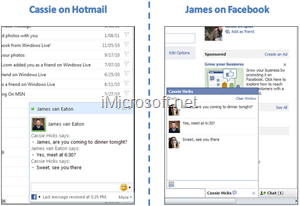 chat in hotmail with facebook friends