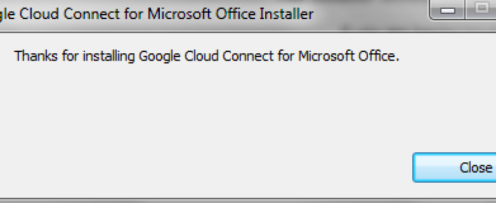 google cloud connect installed