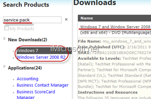 Download Windows 7 SP1 RTM ISO From MSDN / TechNet