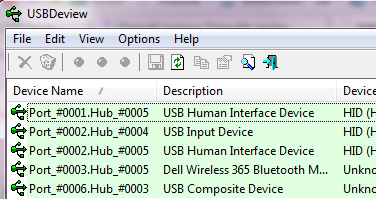 USBDeview usb device details