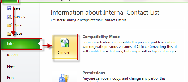 How To Convert An Office 2003 File To Office 2010 Format