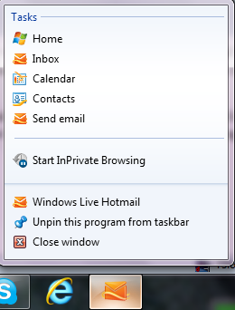 pin hotmail options