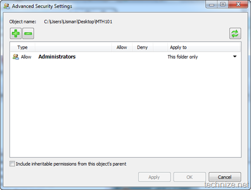 NTFS Permission Tools Advanced Settings