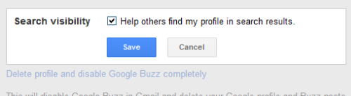 Search Visibility in Google Profiles