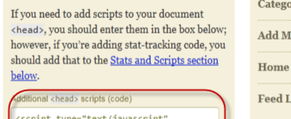 additional scripts adding google plus one code
