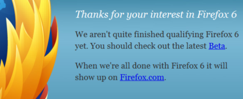 firefox 6 download error