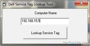 Dell Service Tag Lookup Tool