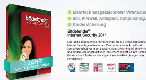 BitDefender Internet Security 2012 License Key Free For One Year