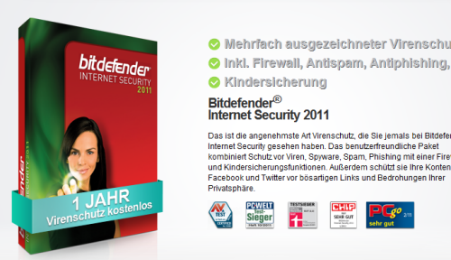 BitDefender Internet Security 2012 promotion