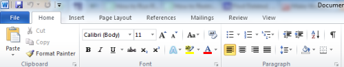 Microsoft Office Ribbon UI
