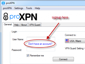 ProXPN free vpn service signup link