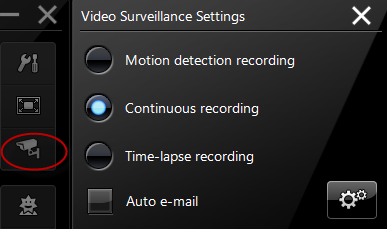 Youcam video surveillance settings
