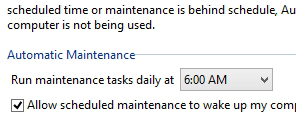 Schedule maintenance tasks in Windows 8
