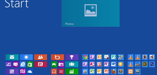 Organize tiles in Windows 8