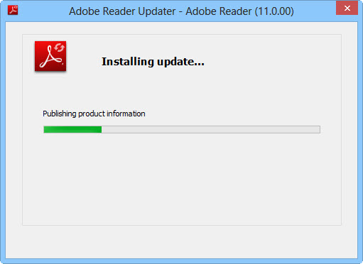 updating adobe reader