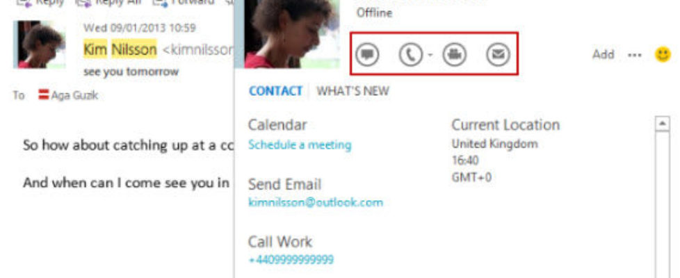 Skype 6.1 integration with Outlook contacts