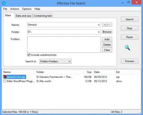 Effective File Search 3
