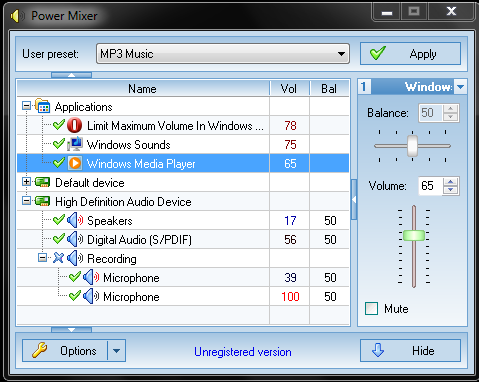 Power Mixer Volume Control Tool for Windows
