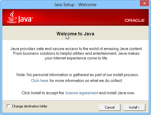 Welcome to Java