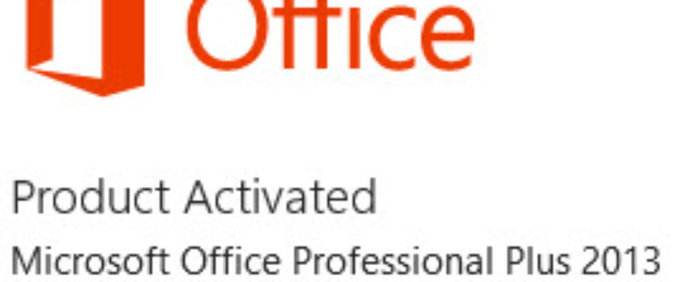 Office 2013 activated