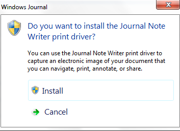 Windows Journal Note Writer