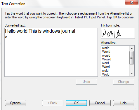 Convert Handwriting to Text Microsoft Windows Journal