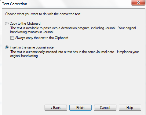 Replace Text in Microsoft Windows Journal