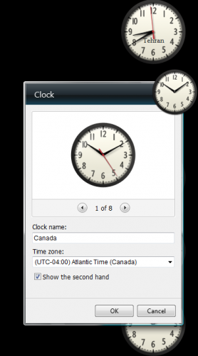 Set Time of Desktop Clock Gadgets
