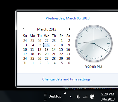 Customize Date And Time in Windows