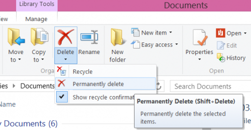 Windows Explorer Delete