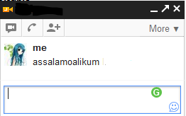 Add image in gmail chat