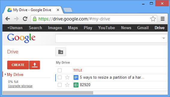 Google Drive in offline mode