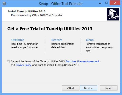 Install TuneUp Utilities 2013