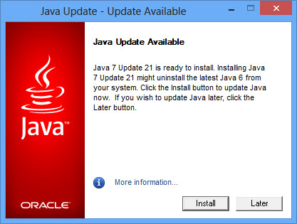 Java 7 Update 21 Offline Installers Direct Download Links