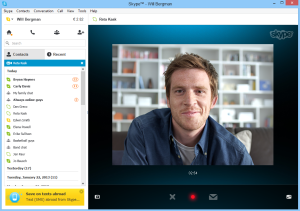 Recording a Video Message using Skype