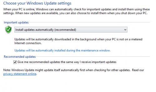 Configure Windows Update Settings