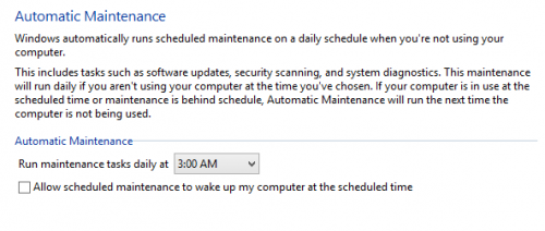 Schedule Automatic Maintenance in Windows Update