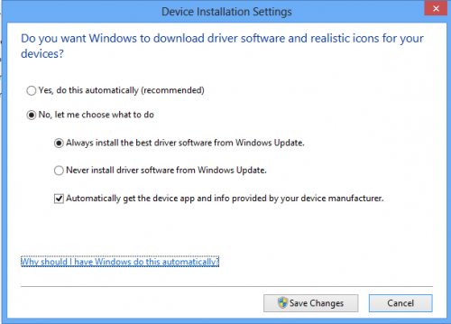 Device Derivr Installation Settings