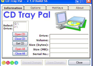 Four Ways To Insert/Eject CD-ROM Tray In Windows
