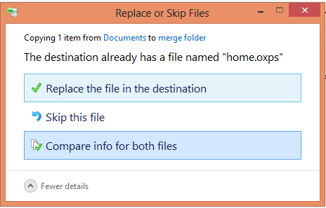 Replae or Skip Files with Same Names