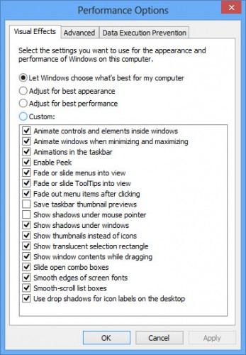 Performance options