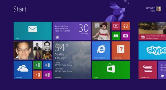 Windows 8.1 start screen tiles