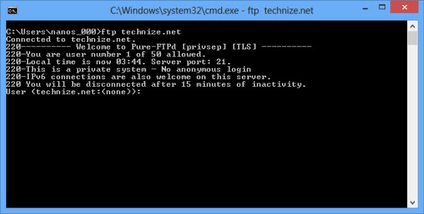 Use FTP From Command Line