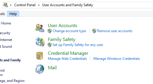 Credential Manager in Windows 8