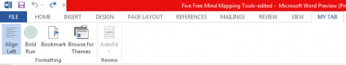 Create Customize Tab in Ribbon bar Office 2013