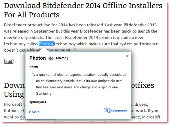 Dictionary Pop-Up: A Better Dictionary For Firefox