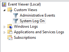 Custom Views in Windows 8 Event Viewer